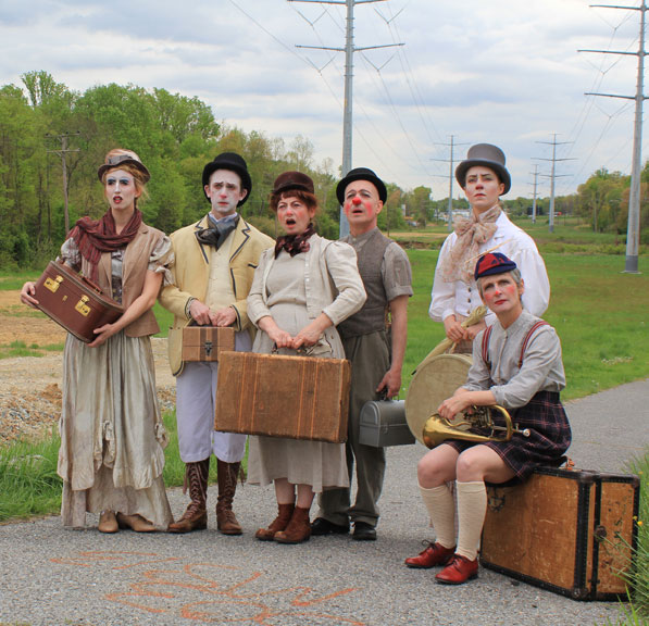 The cast of Happenstance's show BrouHaHa.