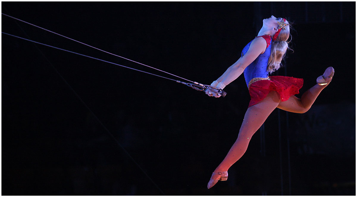 Tara Ogren in the Ringling Bros. and Barnum & Bailey Circus.