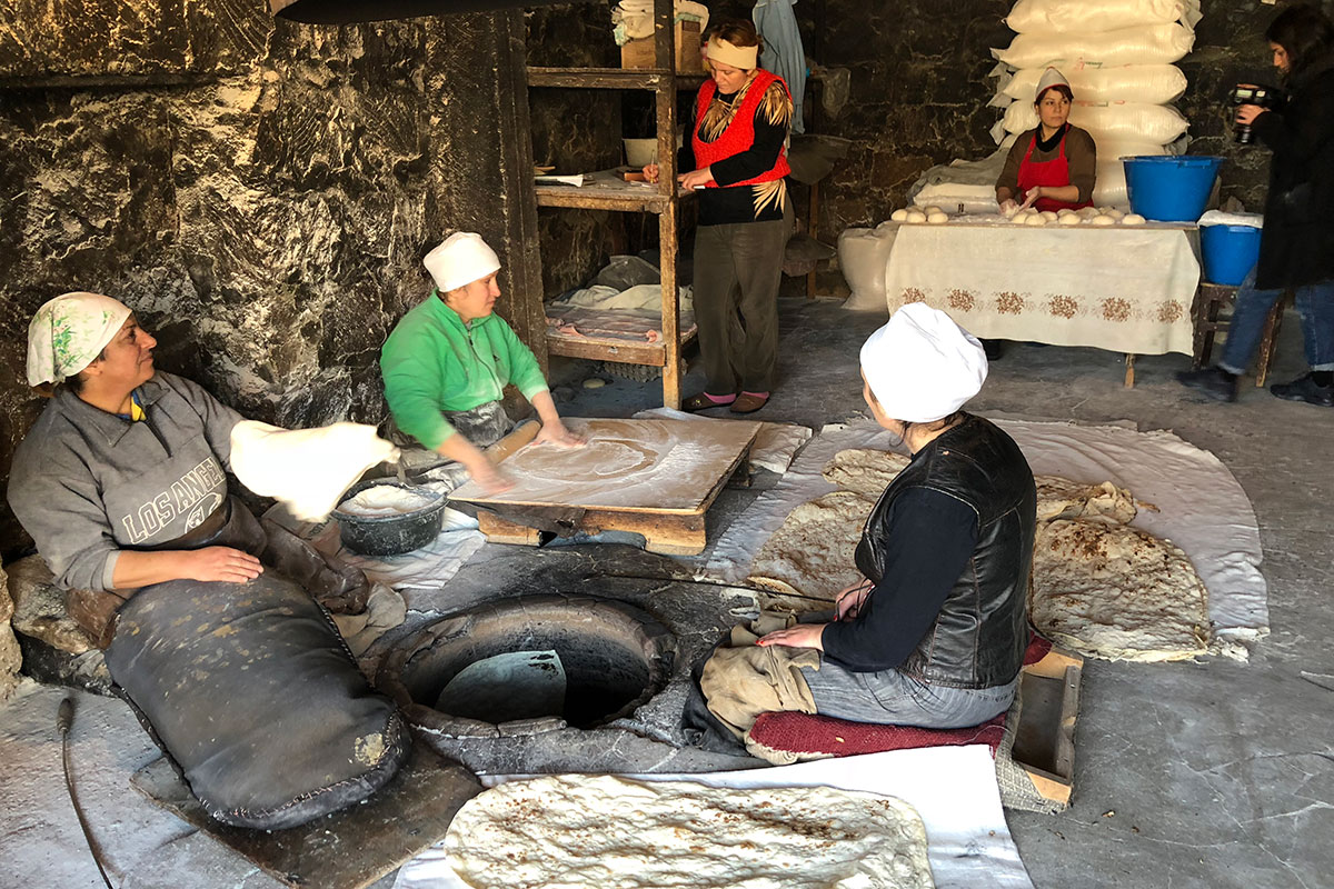The process of baking lavash was always a community affair, requiring at least three bakers for the different roles.