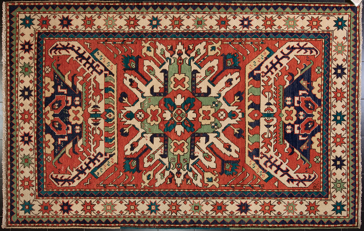 Weavers at Tufenkian Artisan Carpets work with natural dyes and traditional Armenian motifs.