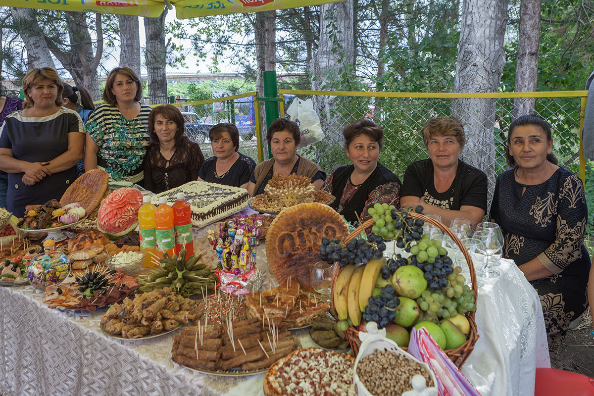 Women from Areni village sell pastry and cakes at the annual Areni Wine Festival.