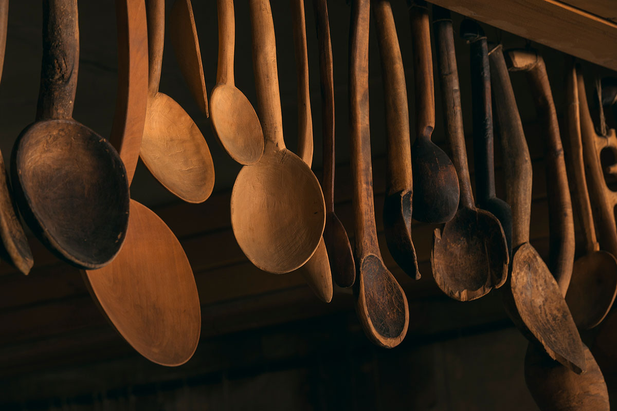 Carved spoons were essential in traditional Armenian homes, with a special spoon made for each member of the family.