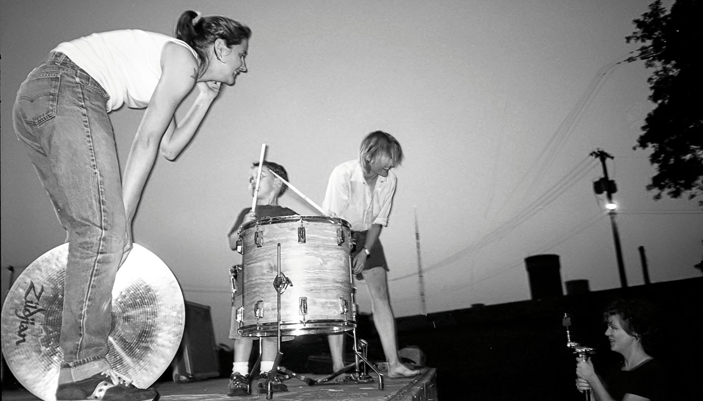 Scaramouche performs at Fort Reno Park in Washington, D.C., 2000.