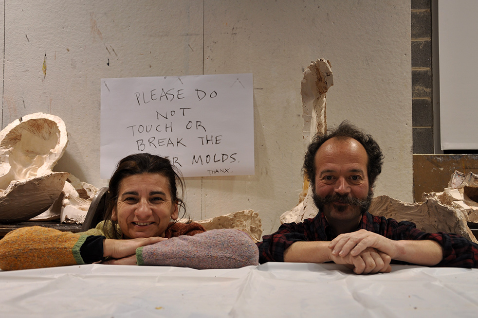 Catalan artists Neus Hosta and David Ventura