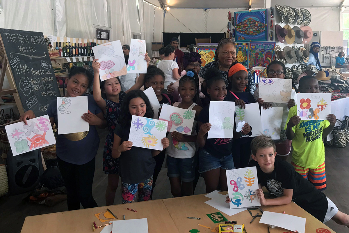 Crafts of African Fashion workshop at the Smithsonian Folklife Festival