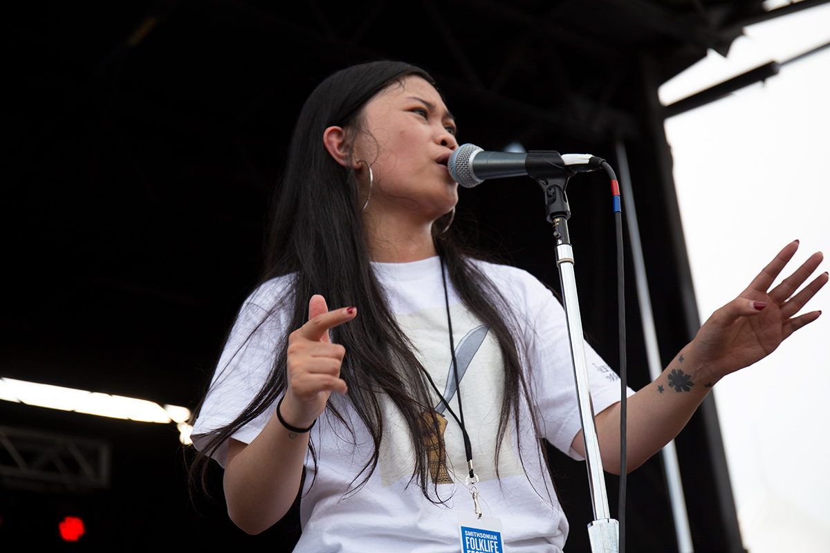 Ruby Ibarra at the 2019 Smithsonian Folklife Festival