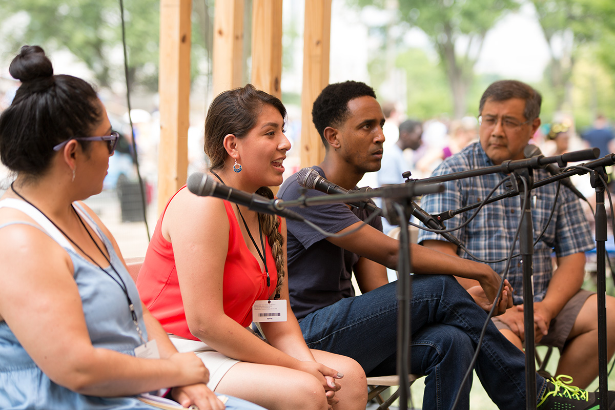 Immigration policy panel at the 2017 Folklife Festival