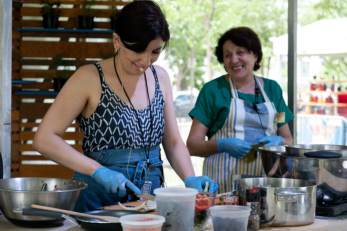 making tolma at the 2018 Smithsonian Folklife Festival