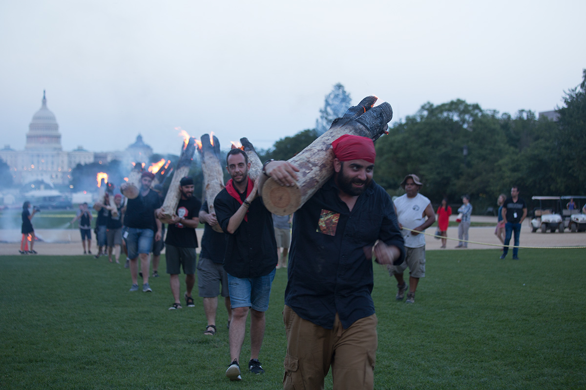 Falles procession on the National Mall