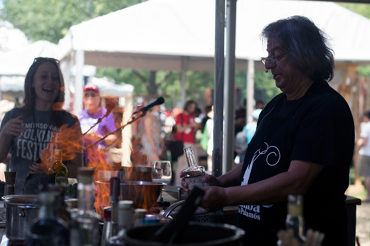 Cooking with vodka at the Smithsonian Folklife Festival