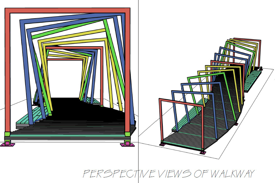 AutoCAD designs for the Migration Walkway