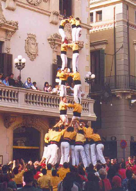 Catalan castellers human tower builders