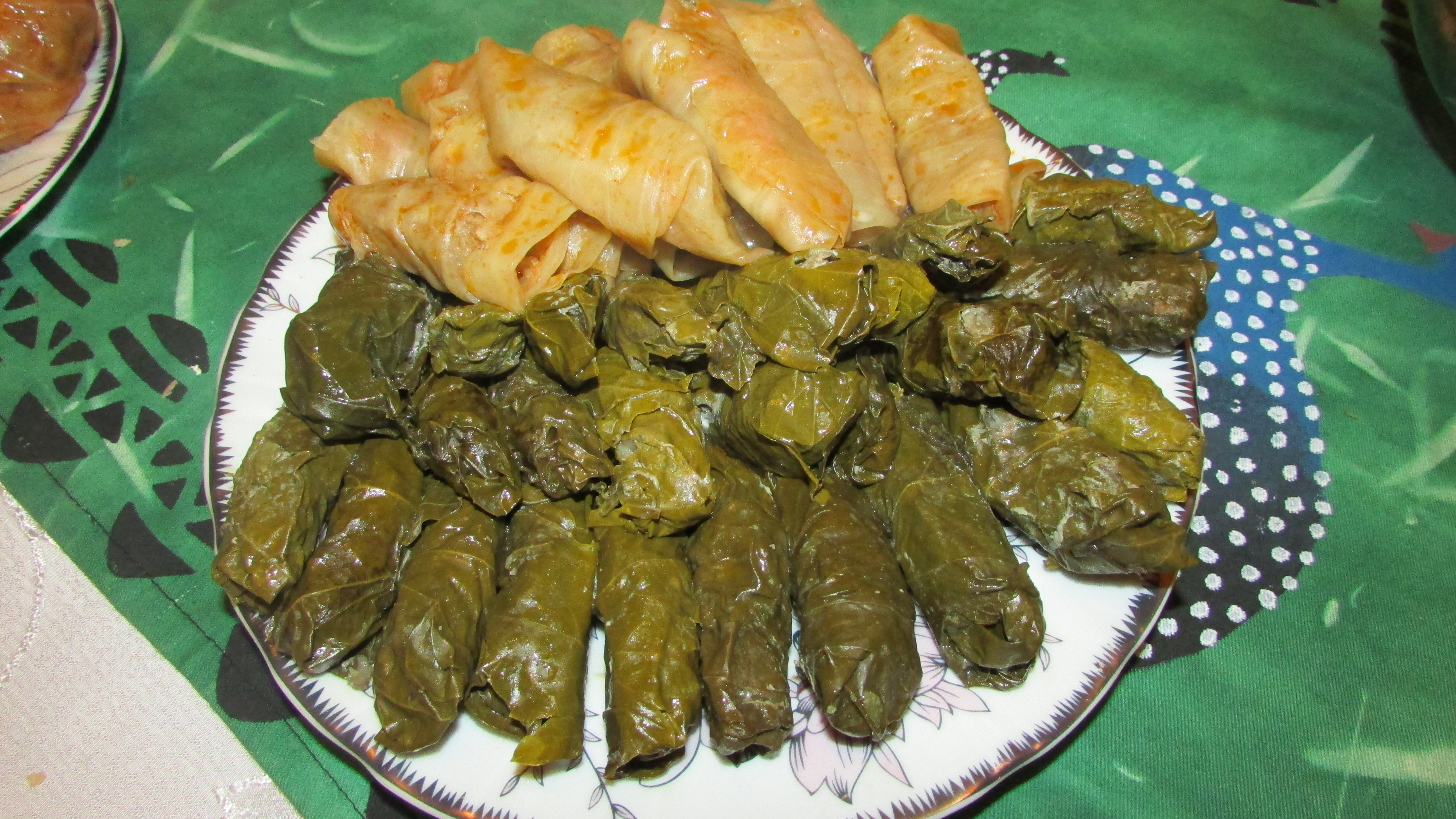Lenten cabbage and grape leaf tolma. Photo by Ruzanna Tsaturyan, Smithsonian Institution.