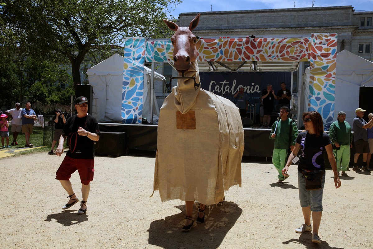 Catalonia mulassa (mule) at the Smithsonian Folklife Festival