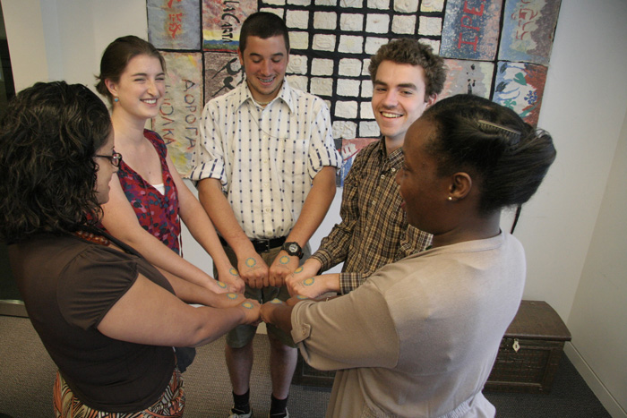 Hand models, from left to right: Jennifer Harris, Catherine Somerville, Jeremy Krones, Tucker Foltz, and Esa Frazier.