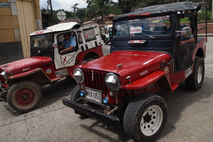 Retrofitted jeeps, photo by Cristina Diaz-Carerra, Smithsonian Institution