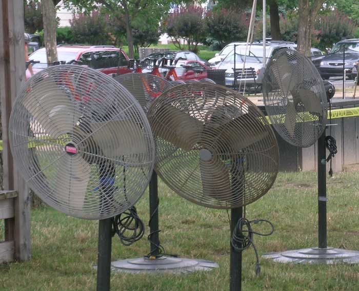 Keep an eye out for these fans that will keep festival visitors and participants cool during the weeks ahead.