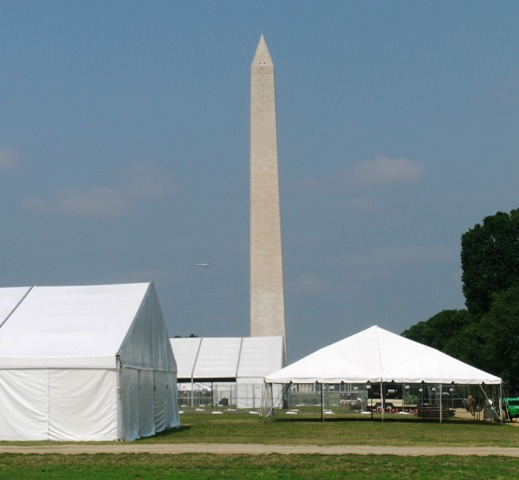 The Festival tents are already up on the National Mall.