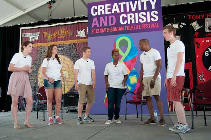 "The NAMES Performers are comprised of Northwestern University Department of Theatre students and theater professionals from Chicago and Atlanta. They are presenting performances formulated around AIDS and the arts for the ""Creativity and Crisis"" program."