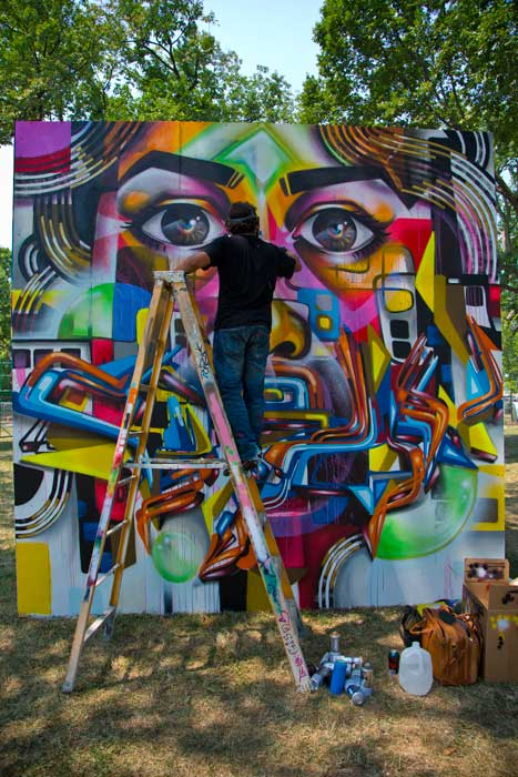 "Members of the Albus Cavus mural collective continue to create powerful works of art in the ""Citified"" program. Photo by Francisco Guerra, Smithsonian Institution"