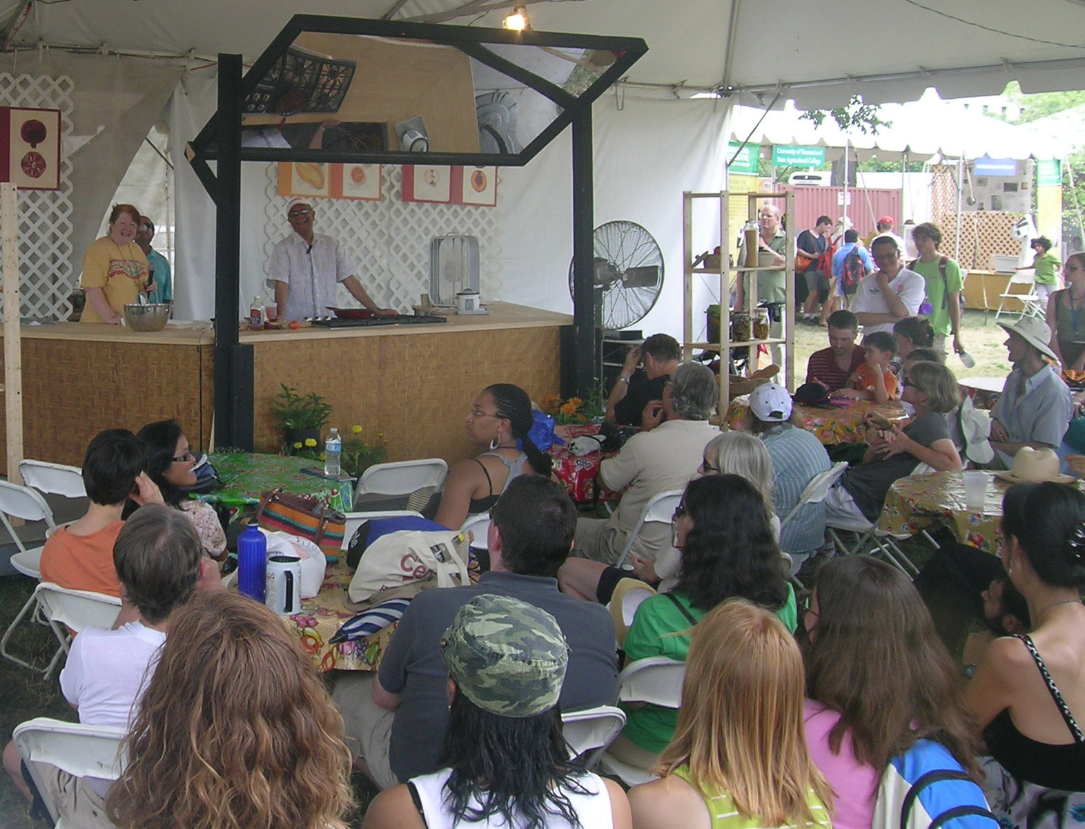 "The ""Coooking with Insects"" demonstration drew the Test Kitchen's largest crowd of the Festival."