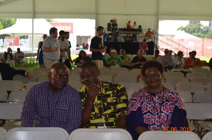 Members of the delegation take their seats in the VIP section of the audience for the Festival opening ceremony. Photo by Elizabeth Ouma, courtesy of the Kenya Cultural Centre
