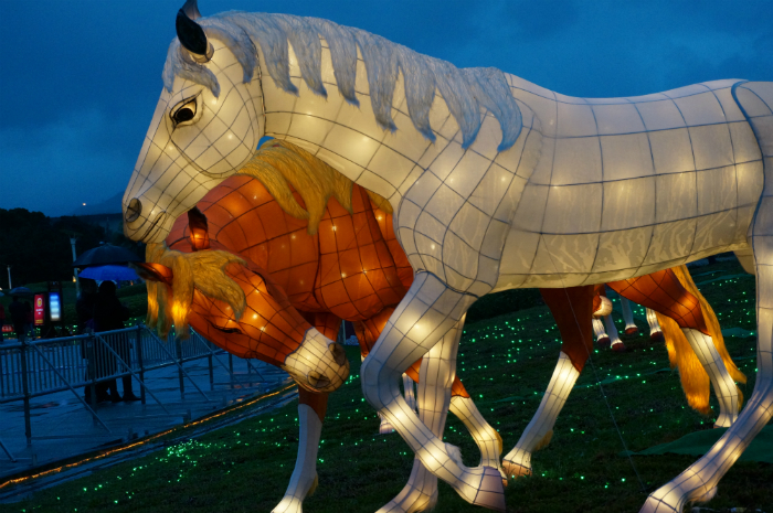 Lantern display in Taipei, Taiwan, rings in the Year of the Horse.