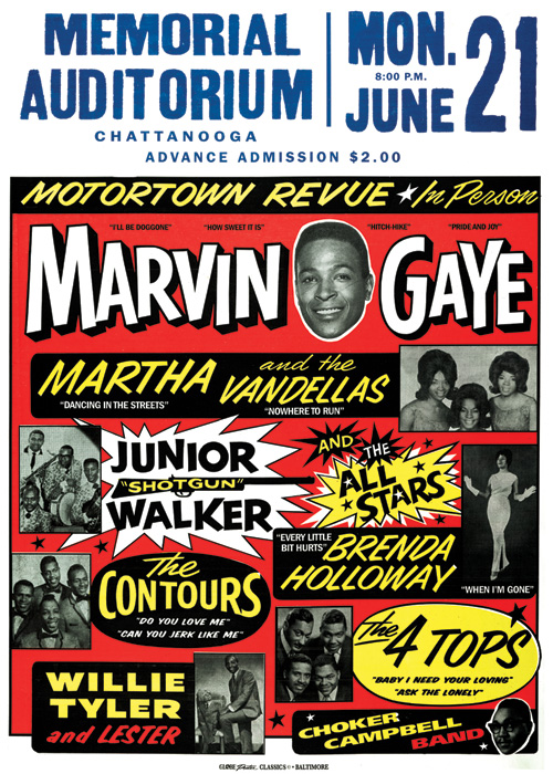 Memorial Auditorium &Motortown Revue& by Globe Poster Printing of Baltimore