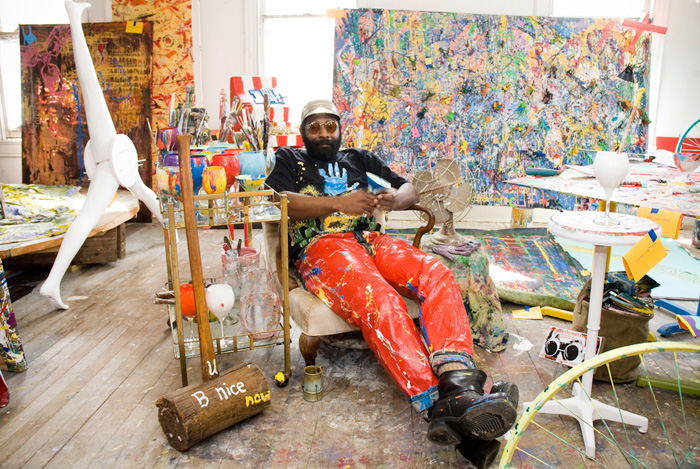 BK Adams takes a break in his studio, 2010.