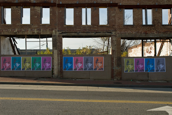 Washington, D.C.--the city itself--serves as showcase for thoughtful and provocative public and street art. Here, wheatpasted posters by Steven Cummings provoke questions about identity.