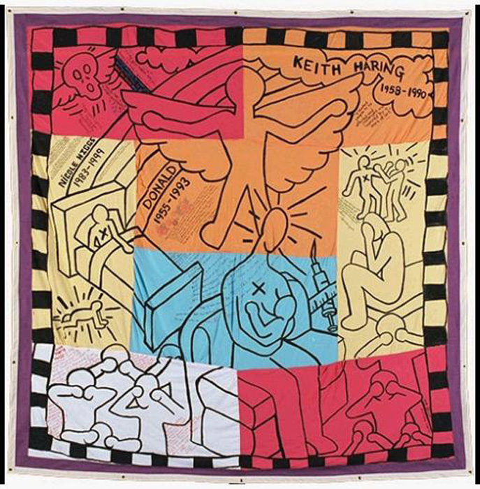 Block 05519 is made up of eight separate panels and is devoted solely to Keith Haring.