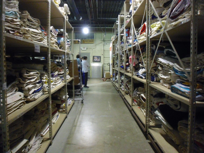 Quilt storage at the Atlanta Warehouse