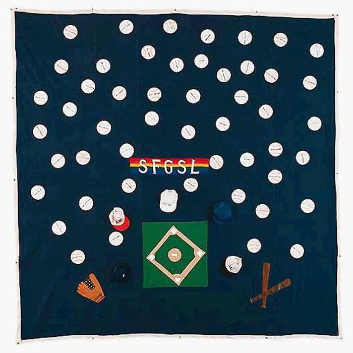This Quilt panel was made in honor of baseball players, including Glenn Burke, block 04840.