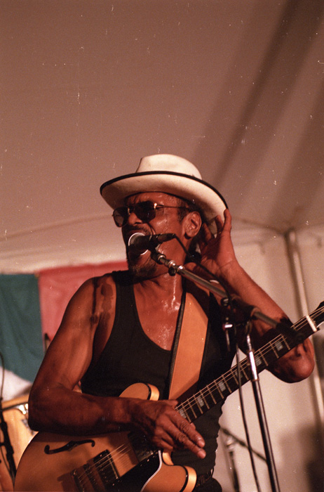 Chuck Brown performing at the 2000 Folklife Festival.