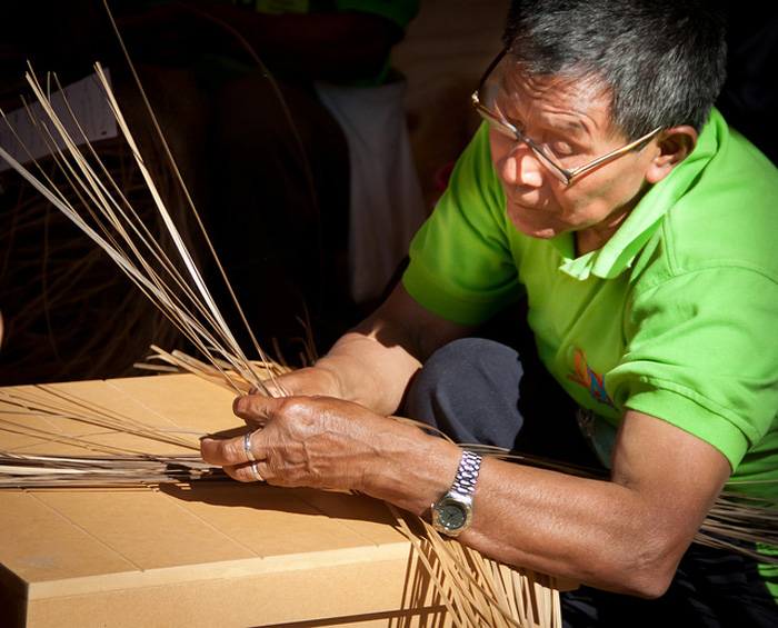 "This photo, ""Weaving,"" was posted by vpickering who participated in last year's Flickr Group. It shows Abel Rodríguez, a weaver from Colombia's Amazonian rainforest who was a part of the 2011 Colombia Festival program, and it was selected for our Best of the Festival Gallery."