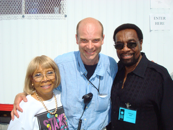 Smithsonian Folklife Festival Director Stephen Kidd with 2011 Rhythm and Blues program participants Dr. Mable John and William Bell.