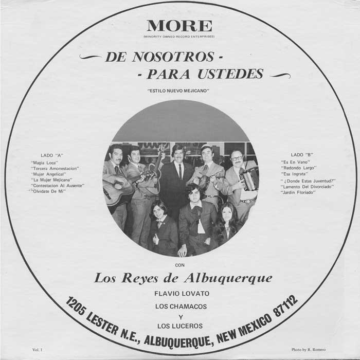 This is one of the earliest releases on Minority Owned Record Enterprises, the label founded by Roberto Martínez. The collection has hundreds of tracks and remains an important icon of New Mexican heritage.