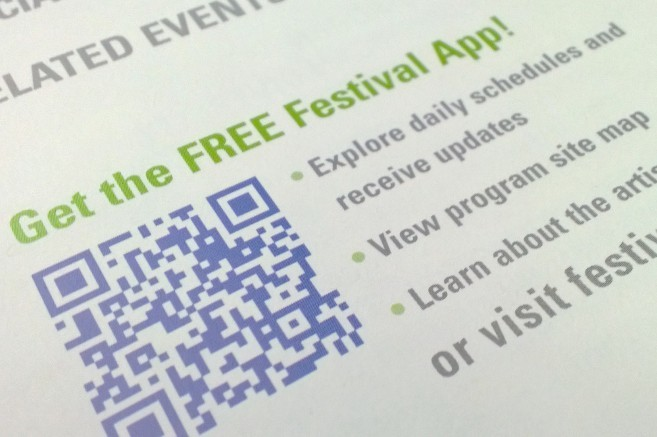 QR code from the 2013 Smithsonian Folklife Festival brochure.
