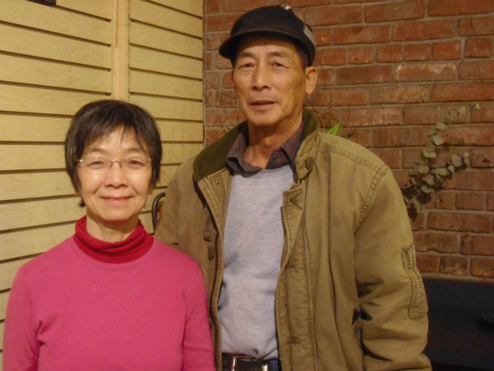 Eleanor Yung with Uncle Ng's third son, Tak Ming.