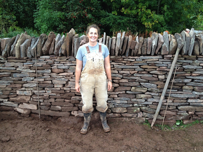 As an exam for the Dry-Stone Walling Association of Great Britain, I took down and put back up this wall in seven hours.