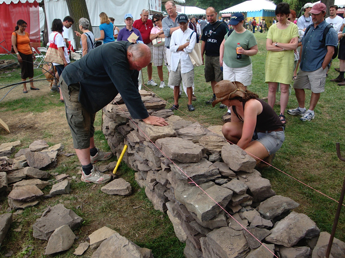 Getting my first taste of walling with Stuart Fry at the 2009 Smithsonian Folklife Festival.