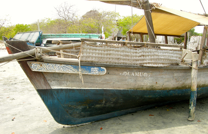 This dhow sailboat Lamu will be on display at the 2014 Folklife Festival. Photo by Colvin English