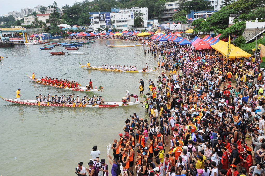 Dragon Boat competition in Hong Kong.