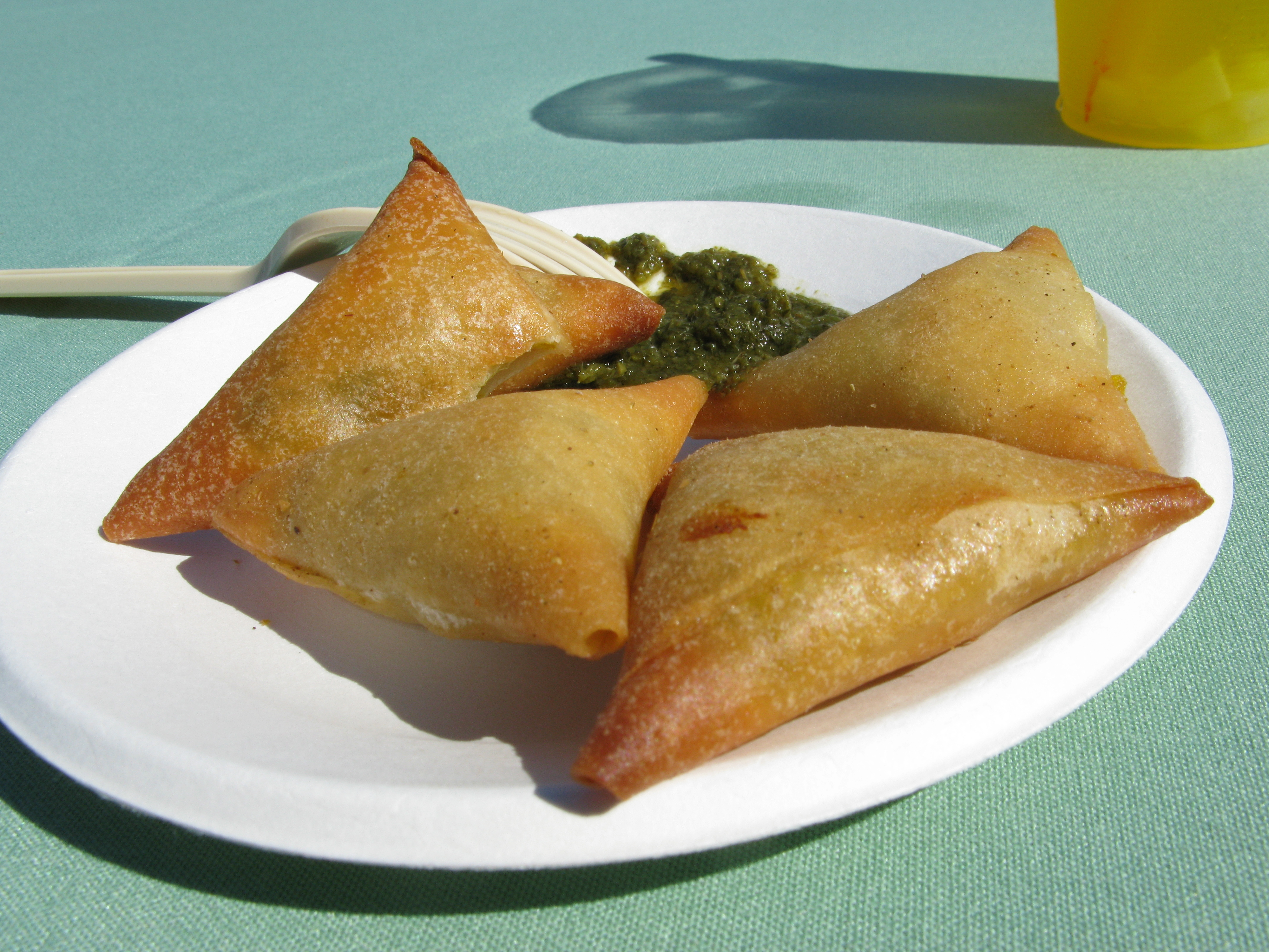 Samosas. Photo by and courtesy of Flickr user Okayryan
