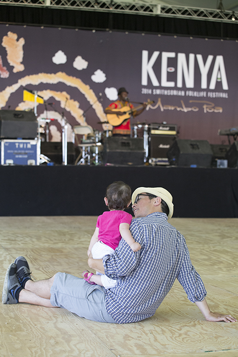 Discovering Kenyan music on the Ngoma Stage.