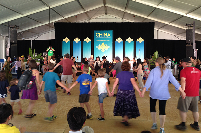 Dancing with the Miao in Moonrise Pavilion. Photo by Jing Li