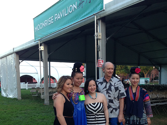 Chinese Miao and American Hmong at Moonrise Pavilion. Photo by Jing Li