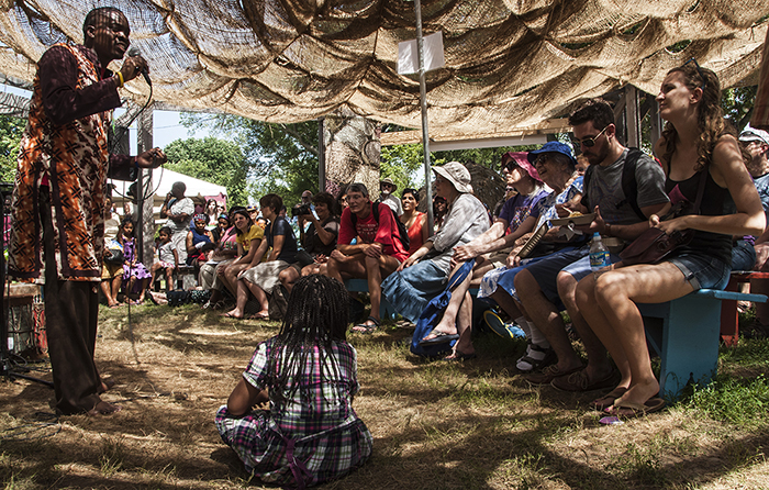 A Zamaleo storytelling workshop at Karibuni.