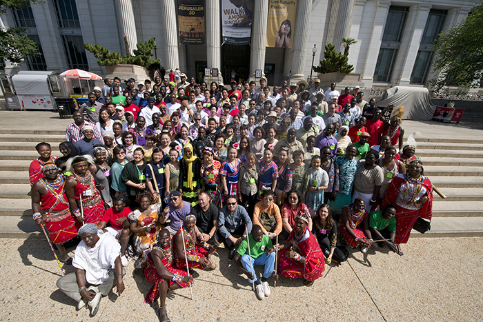 2014 Smithsonian Folklife Festival participants from China and Kenya.