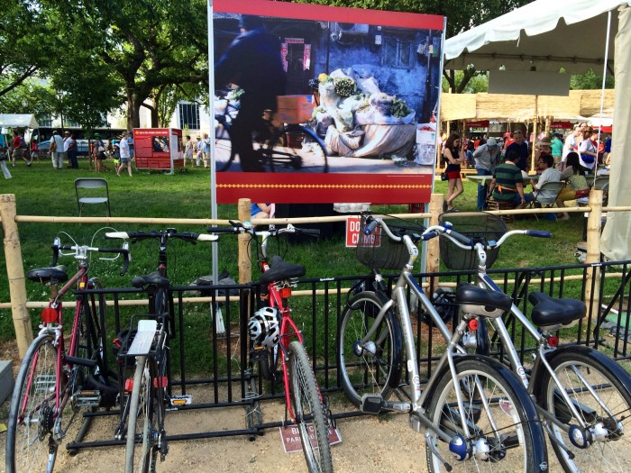 Bike parking at the Folklife Festival. Photo by Madeleine Yoder